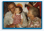 Jim Eber, William Bray, Doris Eber - circa 1978